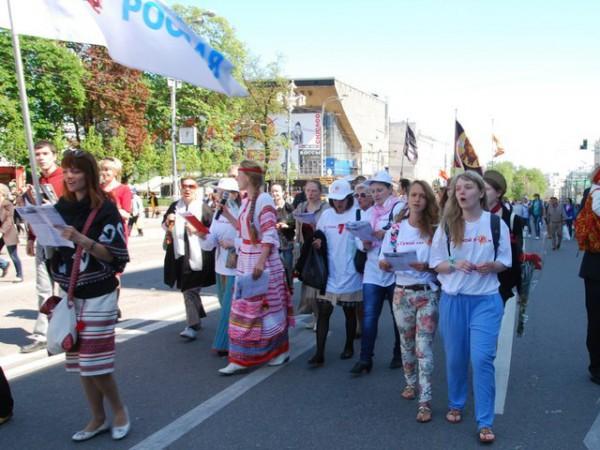 9 мая 2014 года шествие на Тверской